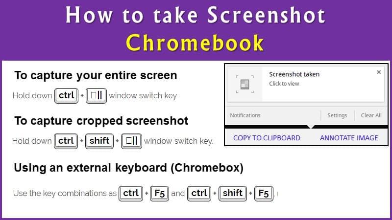 How to Take Screenshots (Print Screen) on Chromebook