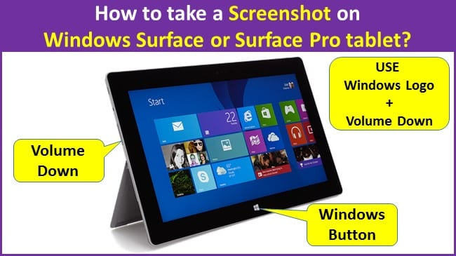 How to take a Screenshot on Windows Surface or Surface Pro tablet
