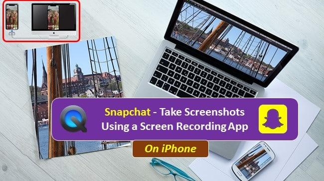Snapchat how to take screenshot using screen recorder on iphone