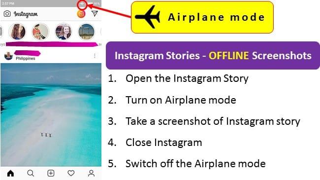 airplane mode screenshot instagram