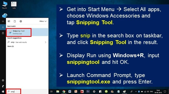 where is my snipping tool windows 10?