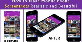 How to Make Mobile Phone Screenshots Realistic and Beautiful using device mockups