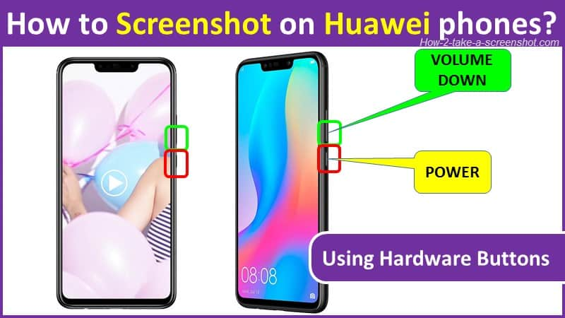 How to Screenshot on Huawei phones using buttons?