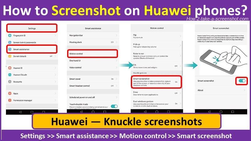 How to Screenshot on Huawei phones using gesture control?