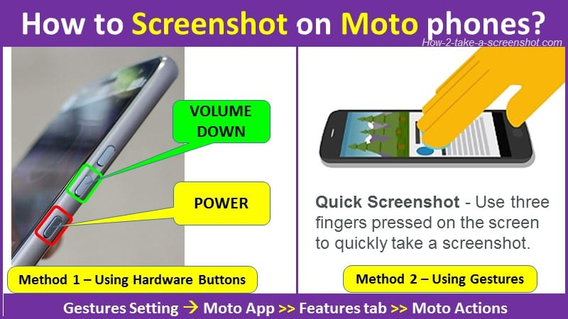 How to Screenshot on Moto phones?