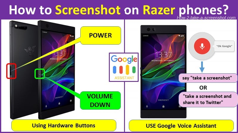 How to Screenshot on Razer phone and laptop?