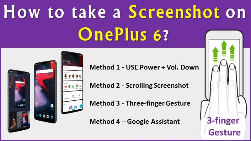 How to take a Screenshot on OnePlus 6