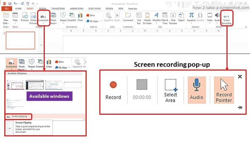 Screen Recording in Windows PC or Laptop using PowerPoint