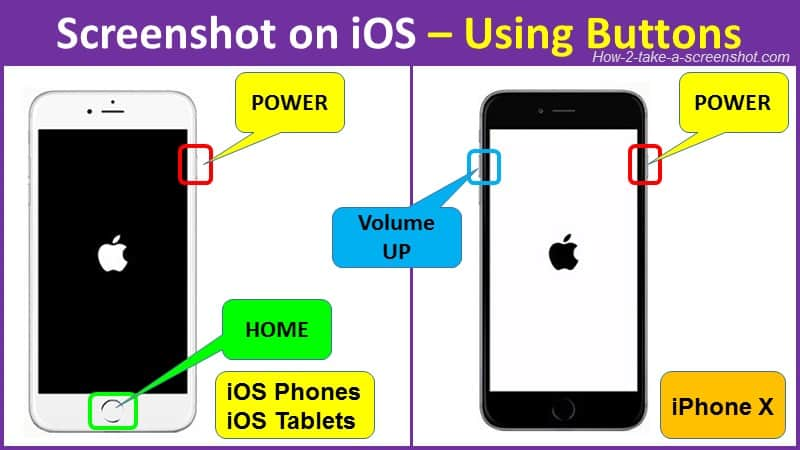 how to screenshot on ios using buttons