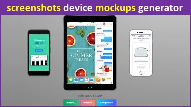 screenshots device mockups generator