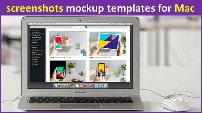 screenshots mockup templates for Mac
