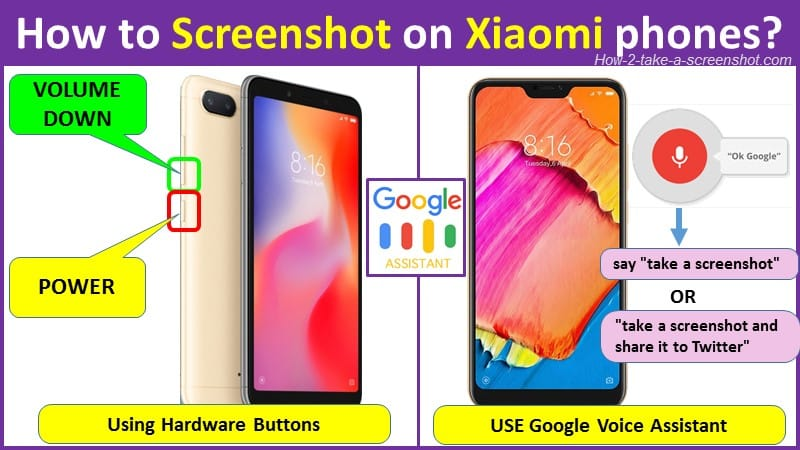 How to Screenshot on Xiaomi phones using buttons?
