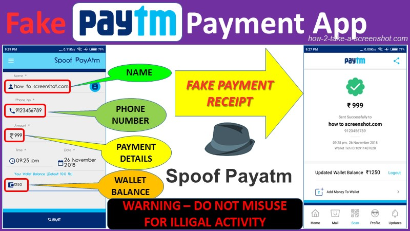 fake paytm payment receipt app download free