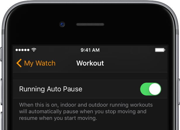 How to auto pause workouts on apple watch?
